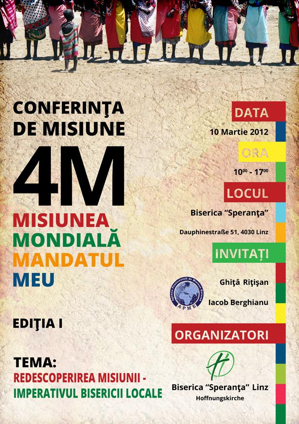 Conferința de Misiune 4M - Misiunea Mondială Mandatul Meu