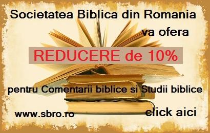 """Reducere de 10% pentru cărțile din categoria """"Comentarii"""" și """"Studii biblice"""""""