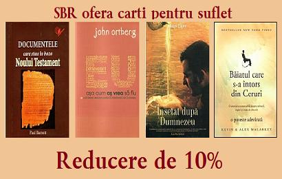 O noua promoție de cărți la SBRO
