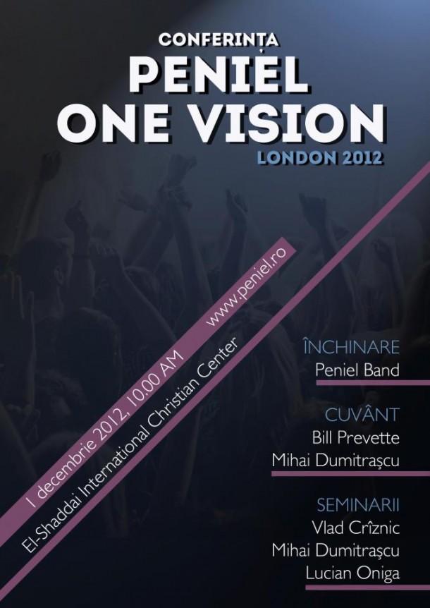 """Conferința Peniel """"ONE VISION"""", Londra 2012"""
