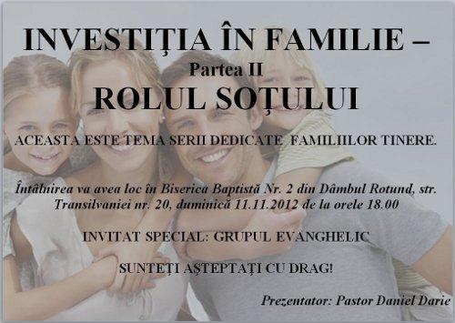 Conferinţa - Investiţia în familie