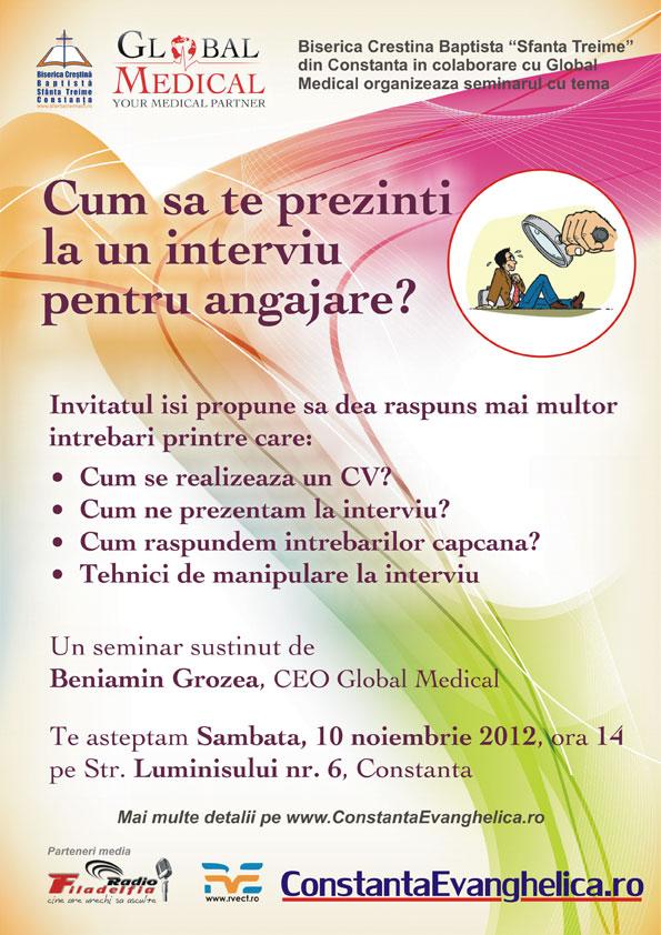 Seminar - Cum să te prezinţi la un interviu pentru angajare?